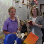 Amy and Diana presented physical therapy careers at technology day