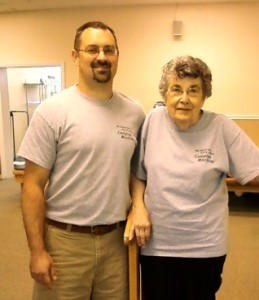 Tim Armstrong, LPTA, Physical Therapist Assistant, with Faye at Martinsville Physical Therapy in Martinsville VA