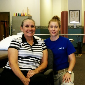 Mandy Adkins, PTA, Physical Therapist Assistant with a patient at DOAR Chatham