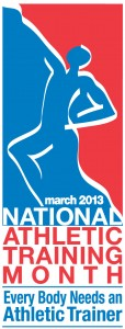 National Athletic Training Month: March 2013