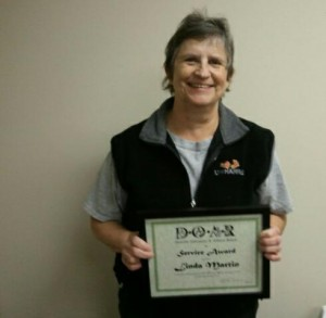 Linda Martin was recognized for 20 years of service