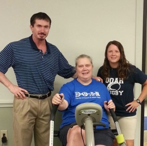 Rosemary enjoyed working with Mike McClellan, MPT and Leslie Hodge Atkins, ATC